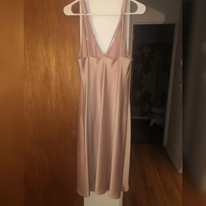 Pink Silk Night Gown VS